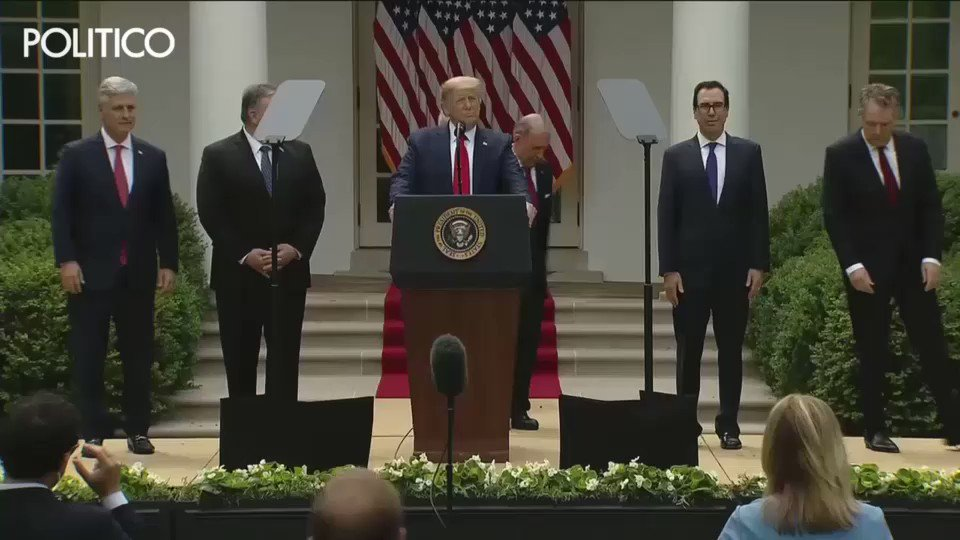 BREAKING: Trump announced the U.S. is officially leaving the World Health Organization in the middle of a pandemic. WHO is currently coordinating international vaccine and drug trials to fight #Covid19