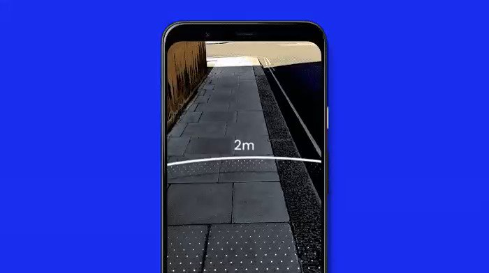 Google's AR tool helps you measure two meters to maintain proper social
