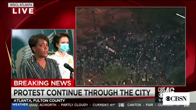 "Atlanta Mayor Bottoms condemns rioters in fiery speech: ""You are disgracing our city, you are disgracing the life of George Floyd"""