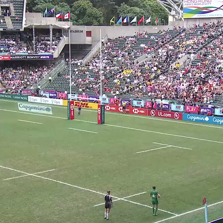 Theres something quite therapeutic about watching this conversion sail over. Pinpoint accuracy from Billy Dardis. 🎯 #HSBC7s