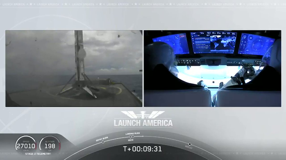 Falcon 9 booster has landed on the Of Course I Still Love You droneship!