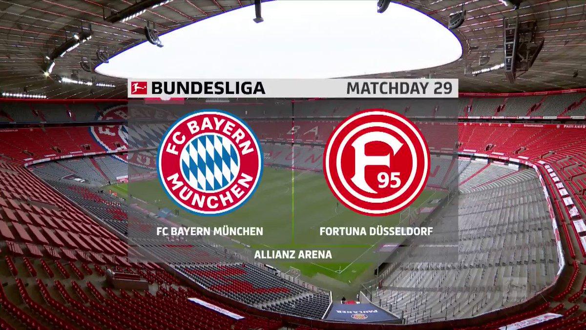 One step closer.  Robert Lewandowski netted a brace as @FCBayernEN thrashed @f95 to edge closer to the @Bundesliga_EN title.   #Bundesliga #BundesligaonFSA #FCBF95pic.twitter.com/YSm4tGXhPz