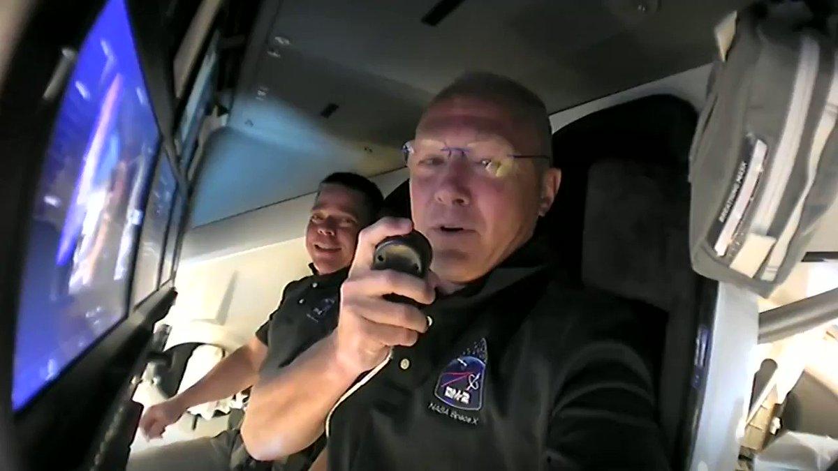 Listen in to hear @AstroBehnken and @Astro_Doug on-obrit→ https://t.co/bJFjLCzWdK https://t.co/knZYkyby8K