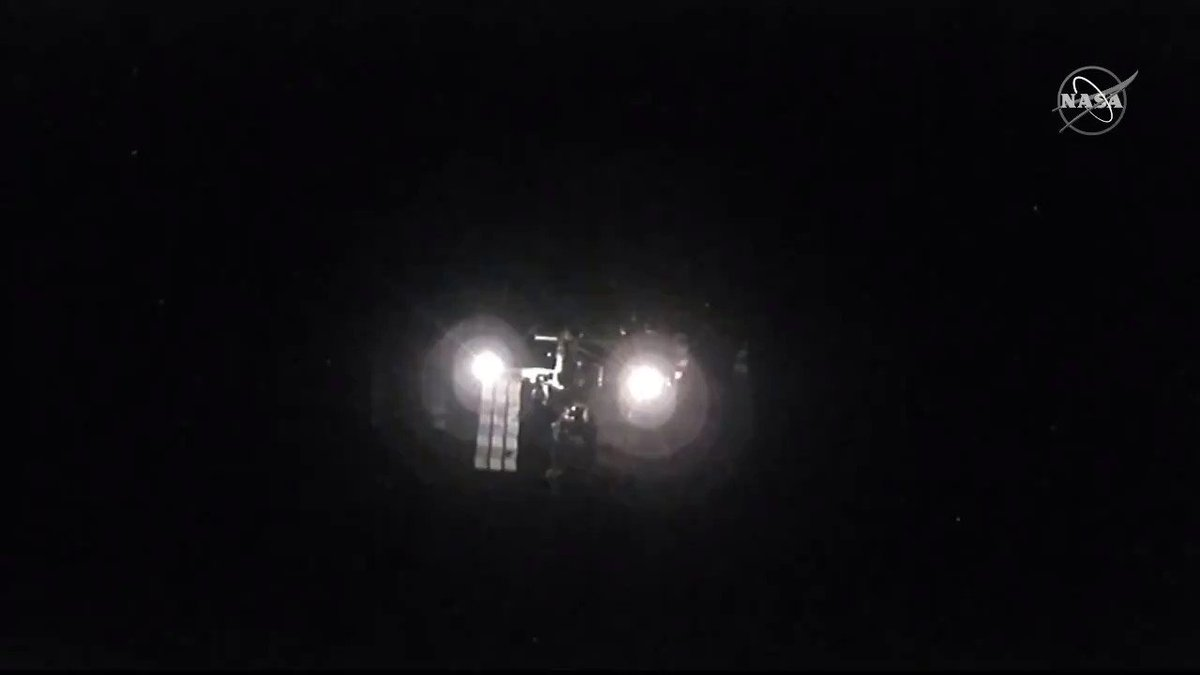 Cameras on the @SpaceX #CrewDragon spot the station less than 500 meters away. #LaunchAmerica | nasa.gov/live