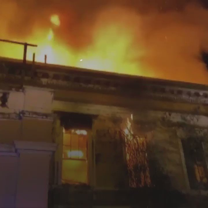Firefighters believe the blaze at the old Crumlin Road courthouse was started deliberately. Read more here: bbc.in/2Mi4e4H