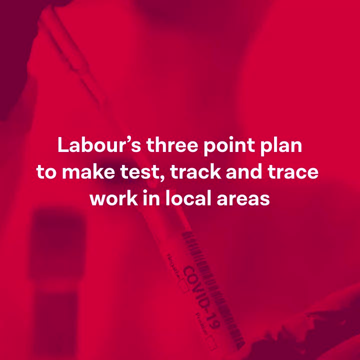 Labours three-point plan to make test, track and trace work.