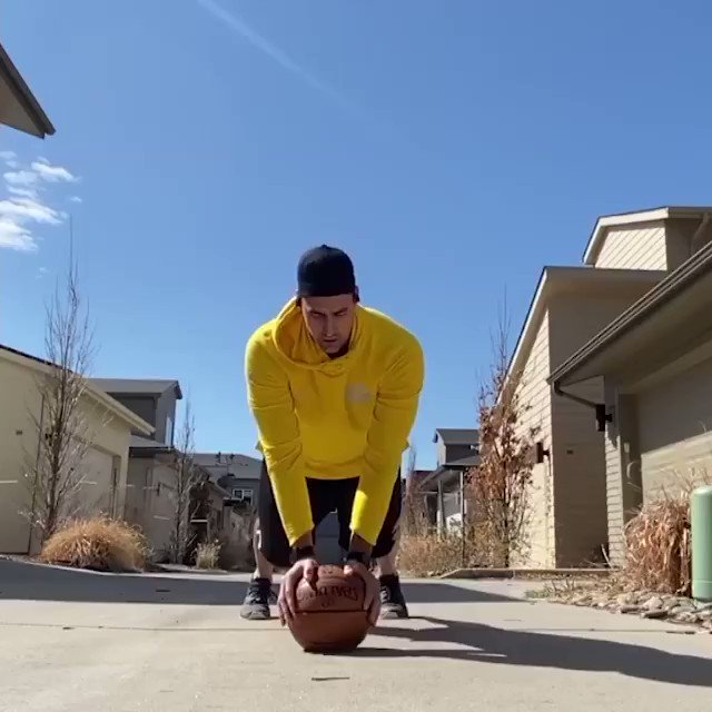 Who's ready for some Basketball Burpees⁉️  Felipe Eichenberger from the @Nuggets leads today's #JrNBAatHome fitness activity & it's a tough one 💪 Tag someone to do some burpees with you‼️ https://t.co/eTcFUBOGZ9