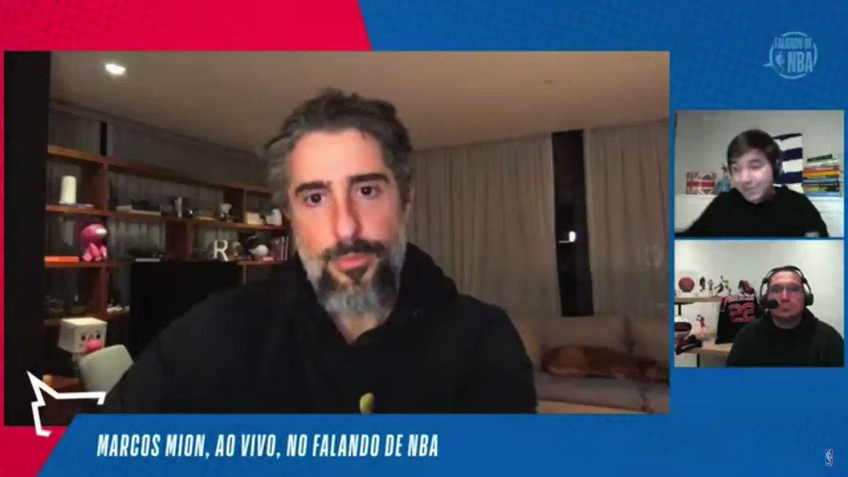 No #FalandoDeNBA, @marcosmion comentou sobre o crescimento da NBA no Brasil! 🇧🇷🏀 Confira o Talk Show completo: https://t.co/1c2TM2KfI6 https://t.co/75r8KQ24N3