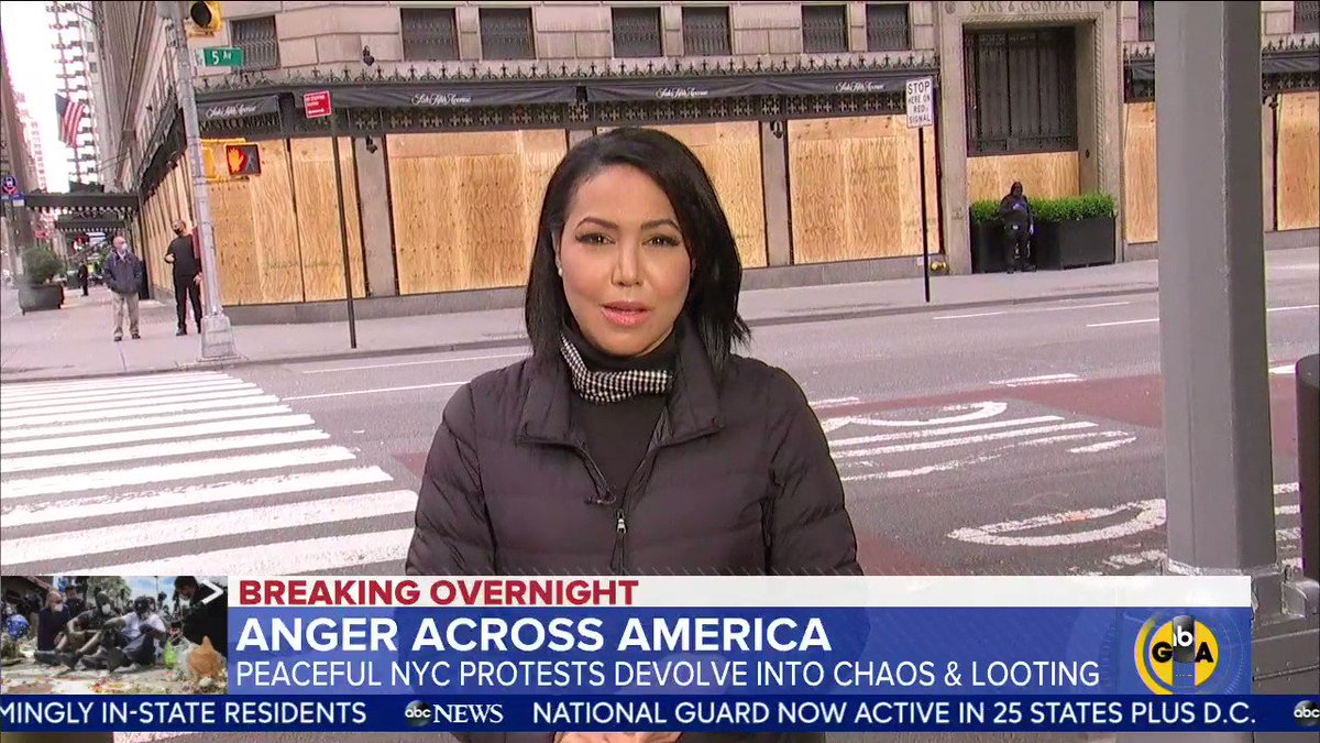 .@sramosABC was there when peaceful protests in NYC devolved into chaos and looting.