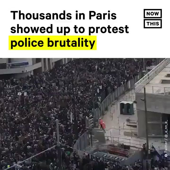 Thousands of protesters in Paris demonstrated against racial injustice on June 2. They paid tribute to George Floyd as well as Adama Traoré, a Black Frenchman who died in police custody in 2016
