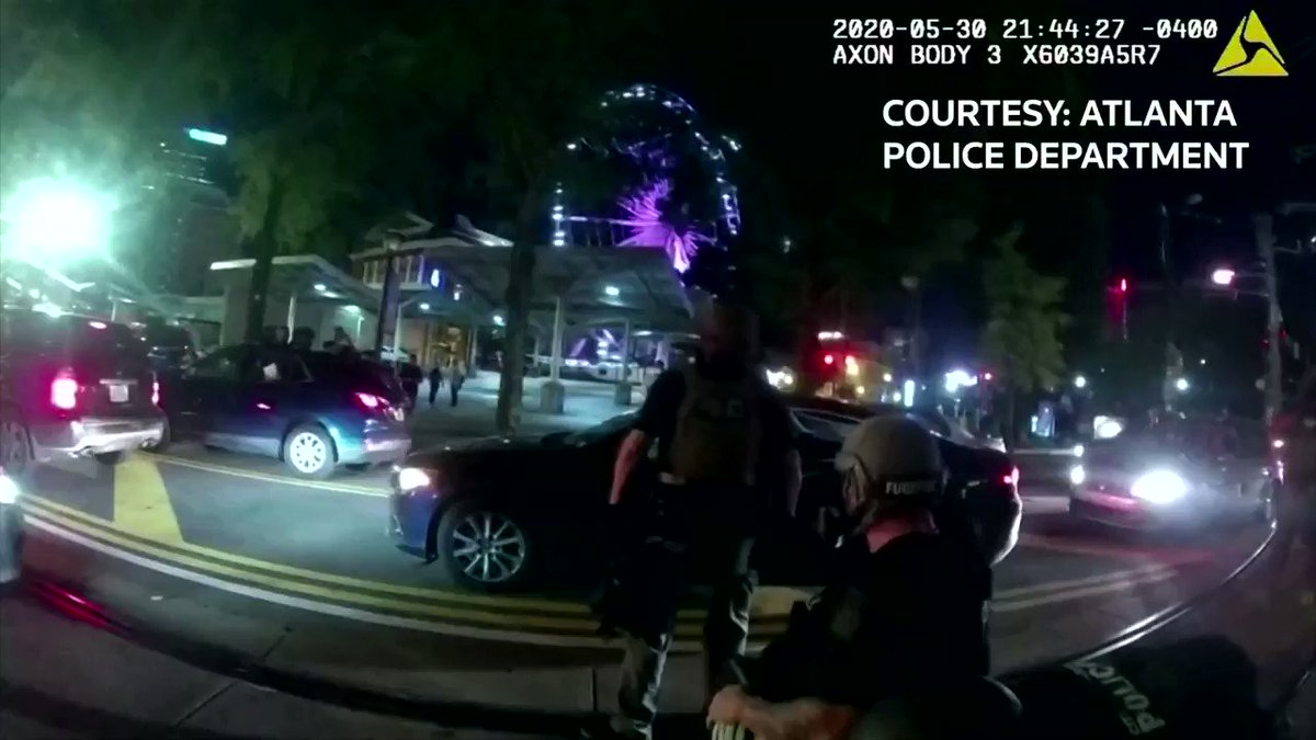 WARNING: GRAPHIC CONTENT Six Atlanta police officers will face charges after bodycam video showed the officers firing a taser gun into a vehicle carrying two college students during protests over the death of George Floyd https://t.co/LnOfbV0cCc
