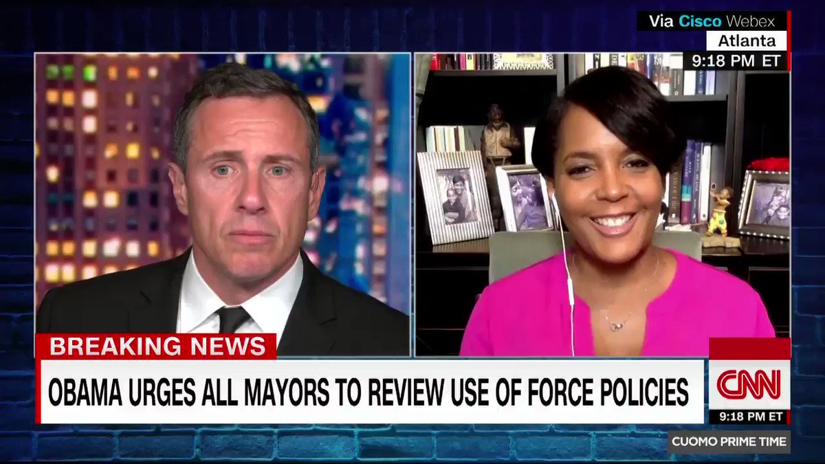 Atlanta Mayor Keisha Lance Bottoms says she was surprised by the speed with which charges were brought against six Atlanta police officers who allegedly used excessive force at a protest cnn.it/305LHkg