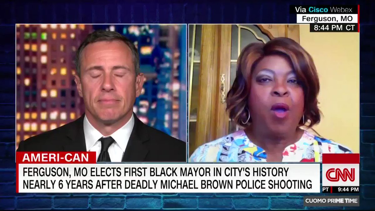 The people want change and they believe I am a change agent and that I symbolize hope, says Ferguson, MO, Mayor-elect Ella Jones, who will be the first black mayor and female mayor in the citys history nearly six years after protests solidified the Black Lives Matter movement