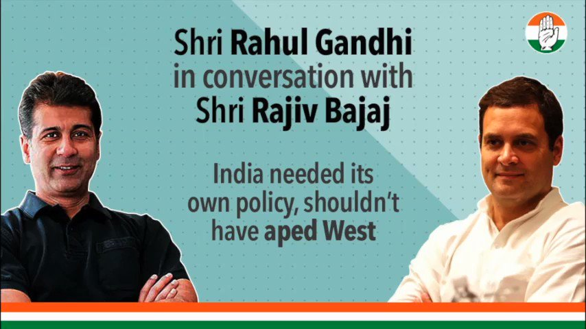 Youve flattened the wrong curve Shri @RahulGandhi and Shri Rajiv Bajaj discuss the impact of the lockdown. #RahulSpeaksUpForIndia