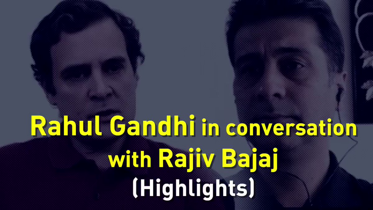 How has the lockdown & atmosphere of fear impacted businesses? What more could the Govt have done to mitigate this crisis? Watch highlights of Shri @RahulGandhis conversation with Shri Rajiv Bajaj to know more about these pertinent questions. #RahulSpeaksUpForIndia