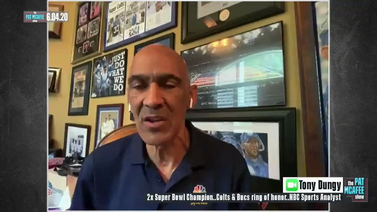 """HoF Coach @TonyDungy, the first black coach to win a Super Bowl, responds to @drewbrees comments on kneeling for the anthem: """"Drew Brees can't be afraid to say that and we can't be afraid to say, 'Ok, I don't agree with you, but let's talk about this.'"""""""