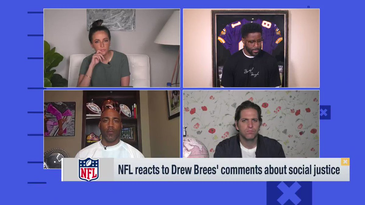""".@nateburleson shares a heartbreaking yet thought provoking story in response to @drewbrees.   """"Drew Brees isn't my enemy! ... Zoom out and see life from a different perspective."""""""