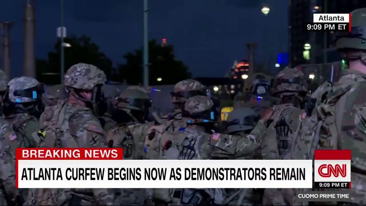 Watch authorities in Atlanta push back protesters who are in violation of the city-wide curfew. cnn.it/30b9H5C
