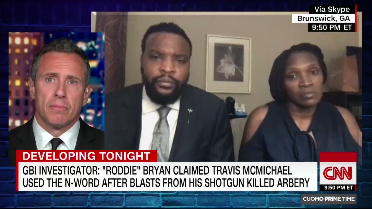 Ahmaud Arberys mother says the claim Travis McMichael used the N-word after shooting her son leaves her speechless. He... ran for his life. When he couldnt run anymore, he had to fight. And then after he fought, he was killed. Its very hard to know that he endured that.