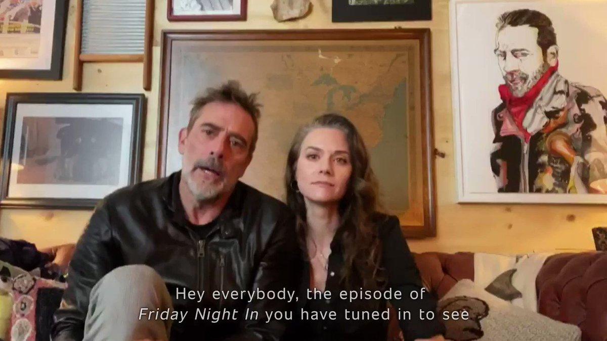 A message from @JDMorgan and @HilarieBurton. #FridayNightInWithTheMorgans
