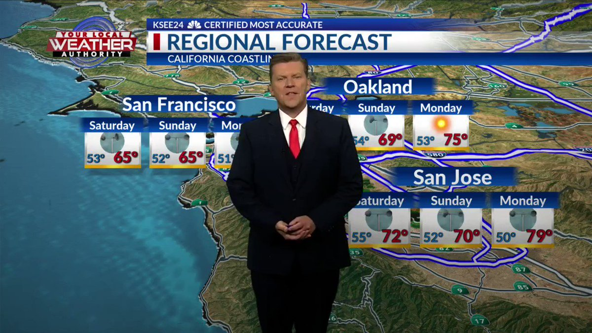 Here's your forecast for coastal cities from San Francisco to L.A. #SanFrancisco #Oakland #SanJose #SantaCruz #Monterey #Cambria #MorroBay #PismoBeach #SantaBarbara #LosAngeles #CaliforniaCoastForecastpic.twitter.com/UyTUM4U5vb