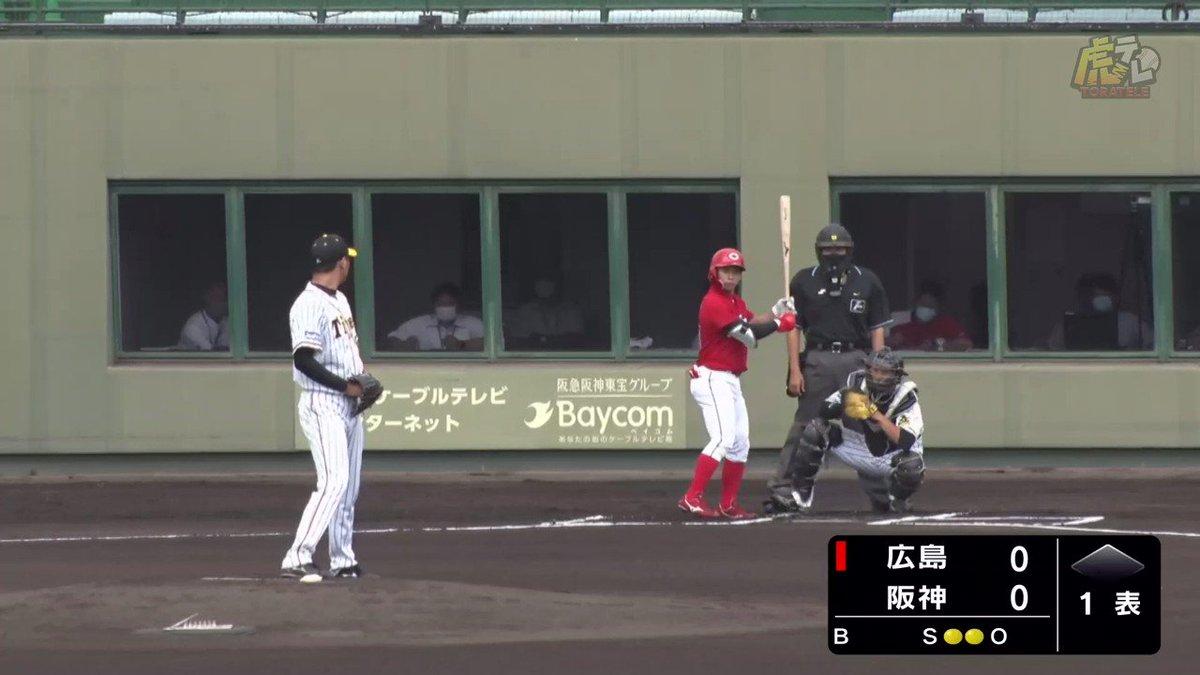 414日ぶり復帰登板の桑原投手、素晴らしい変化球で先頭打者を三振に!この回、アウトはすべて三振で奪いました!#hanshin #虎テレ #阪神タイガース