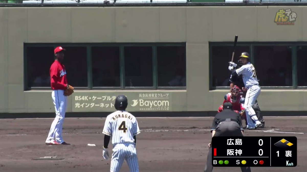 4番のルーキー井上、今日もチャンスでタイムリーヒット! #hanshin #虎テレ #阪神タイガース