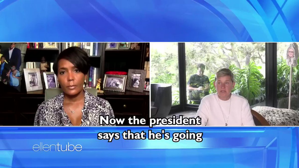Mayor @KeishaBottoms talks about the president.