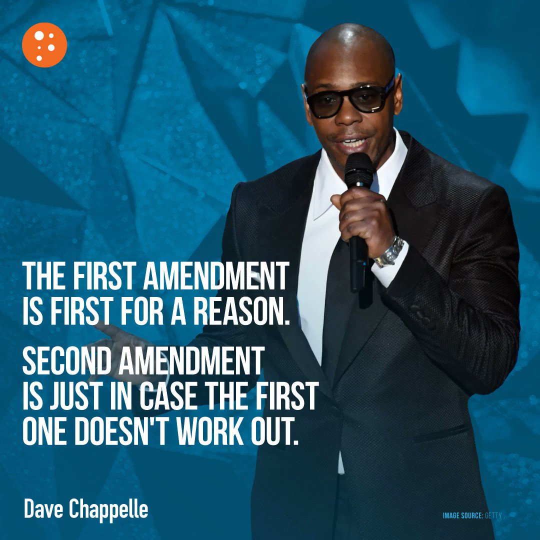 Image for the Tweet beginning: Dave Chappelle gets it ✊