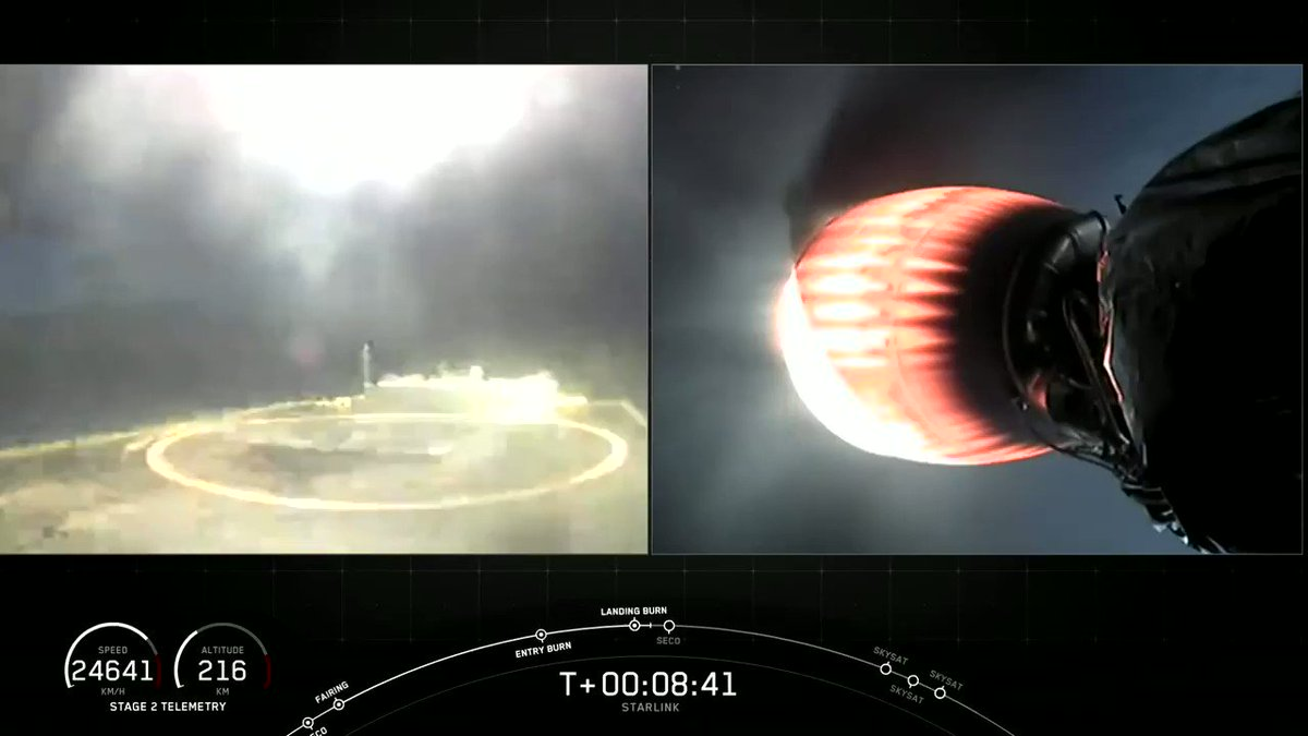 Falcon 9's first stage has landed on the Of Course I Still Love You droneship https://t.co/qv6aMiPGoq