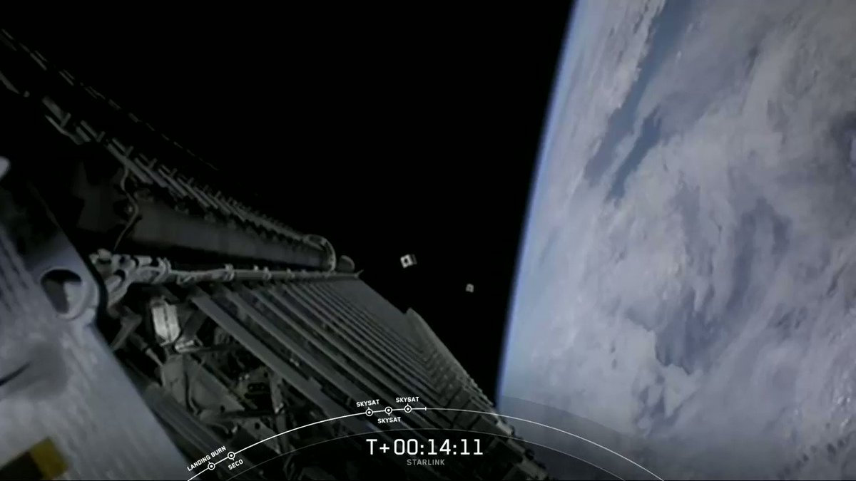All three @planetlabs SkySats have deployed