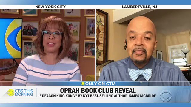 """James McBride joins us now to talk about """"Deacon King Kong"""" and how he felt being selected as @oprahs pick for @oprahsbookclub."""