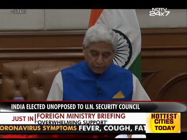 Watch | Our work in the UNSC will be guided by PM's call for a reformed multilateralism and the dynamic 5S vision – 'sammaan, samvaad, sahyog, shanti and samriddhi: Foreign Ministrys Vikas Swarup