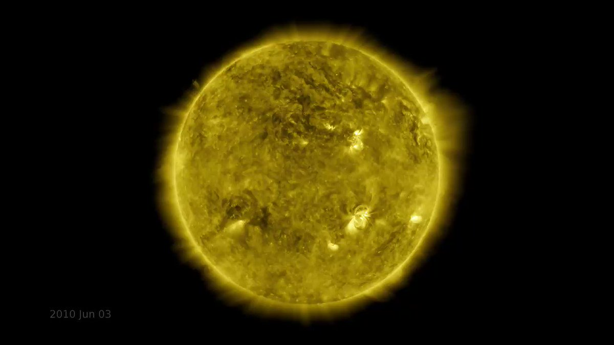 10 years. 20 million gigabytes of data. 425 million hi-res images of the Sun. A new time-lapse video marks a decade of operations for our @NASASun Solar Dynamics Observatory. Watch: youtu.be/l3QQQu7QLoM