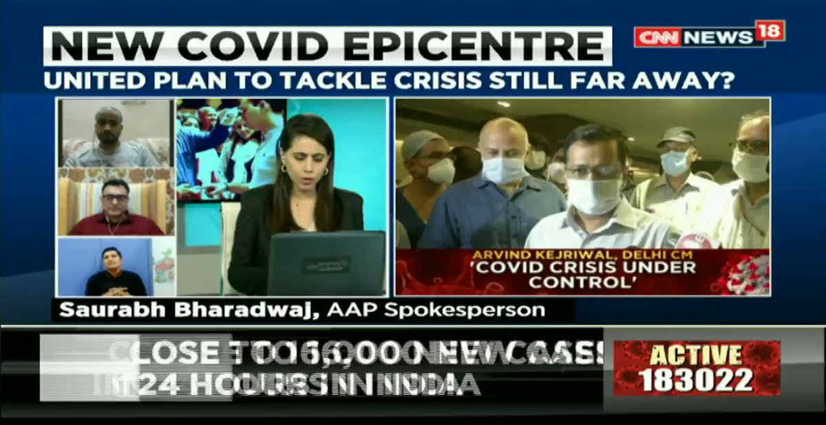 #IndiaFightsCOVID19 – The numbers had to spike. It was just a matter of time, @RommelTickoo (Internal Medicine, Max Hospital, Saket), tells @maryashakil on #NewsEpicentre. https://t.co/G7zobhAPX4