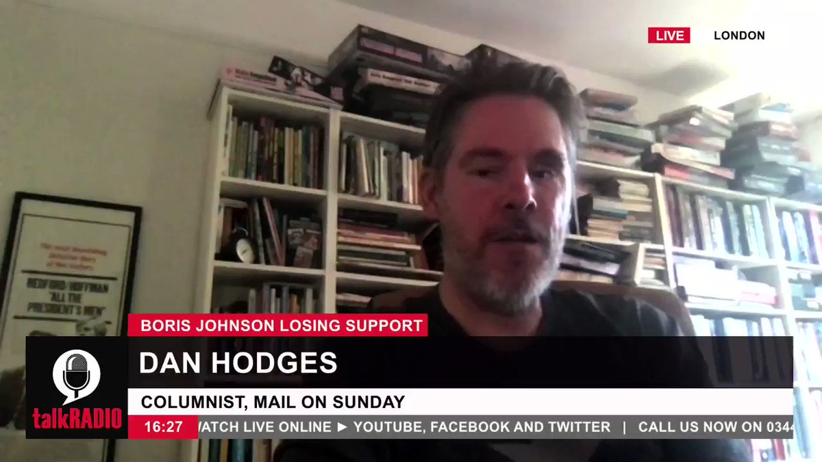 Mail on Sunday columnist Dan Hodges: There is an increasing view amongst Tory MPs and ministers that Boris will not be the person to fight the next general election. Watch live ► youtu.be/ZMPDlLH8IYE @danwootton | @DPJHodges