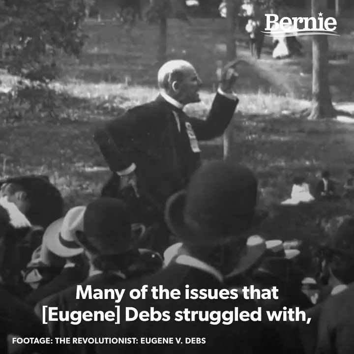 Eugene Victor Debs, union leader and Socialist presidential candidate, was arrested 102 years ago today after he delivered an anti-war address during WWI. In this video, @BernieSanders, @mrdannyglover and I discuss what the radicalism of Debs teaches us.