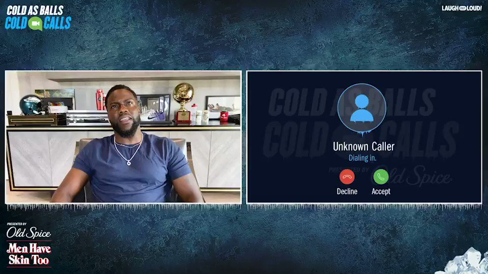 Let's say it together: #ColdAsBalls: Cold Calls told @Yg_Trece to call Kevin cold.  Could Kevin's cold comedy bust Paul George's balls on Cold As Balls: Cold Calls? Watch. It's your call.  #PoweredByOldSpice  Full Episode Available Now -