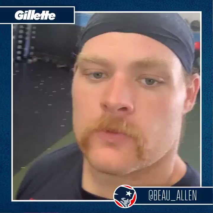 A quick hello from new #Patriots DL @Beau_Allen 👋
