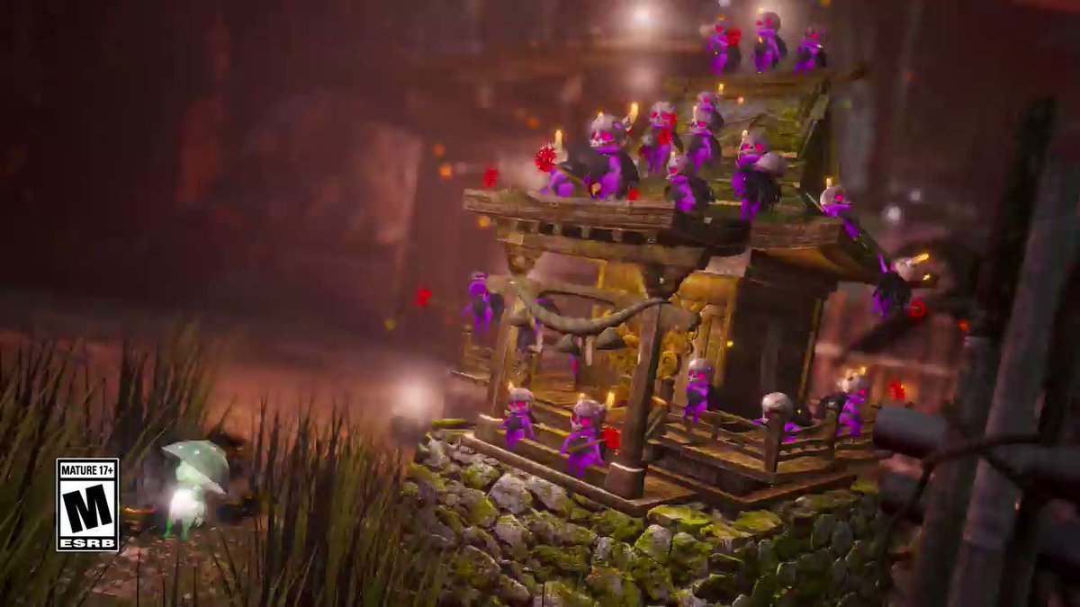 Looks like this Kodama may have gotten the directions to the wrong party😲. Sudamas can have a shocking personality so lets hope this little green guy is ready for an electrifying night. Share these rascals with other yokai slayers🌸! #Nioh2 #PlayStation4 tinyurl.com/y54cdw2h