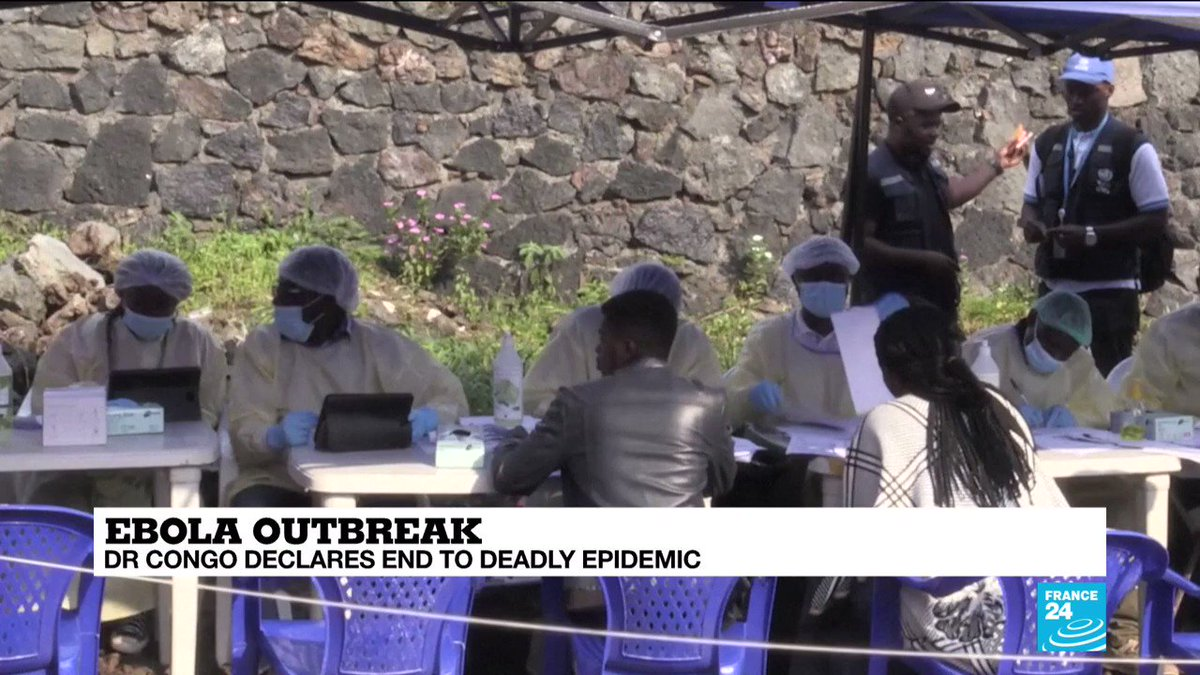 🇨🇩 DR Congo has declared an end to its #Ebola epidemic, which lasted two years, the longest in the country's history. A mass vaccination campaign that inoculated more than 320,000 people helped turn the tide against the deadly virus, as our reporter @cbonnerot explains ⤵️