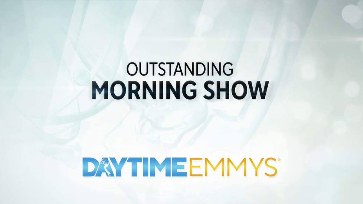 The #DaytimeEmmys Award in MORNING SHOW goes to... Today Show │ @TODAYshow @nbc