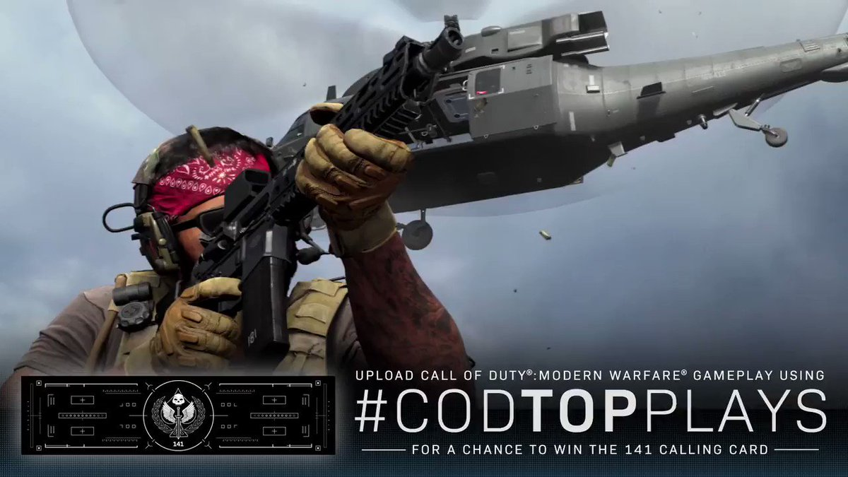 One of the rarest in-game items is up for grabs. Submit your #CODTopPlays for a chance to win the 141 Calling Card.