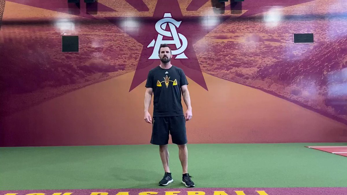 Follow along to see how your favorite ASU baseball players stay #SunDevilStrong