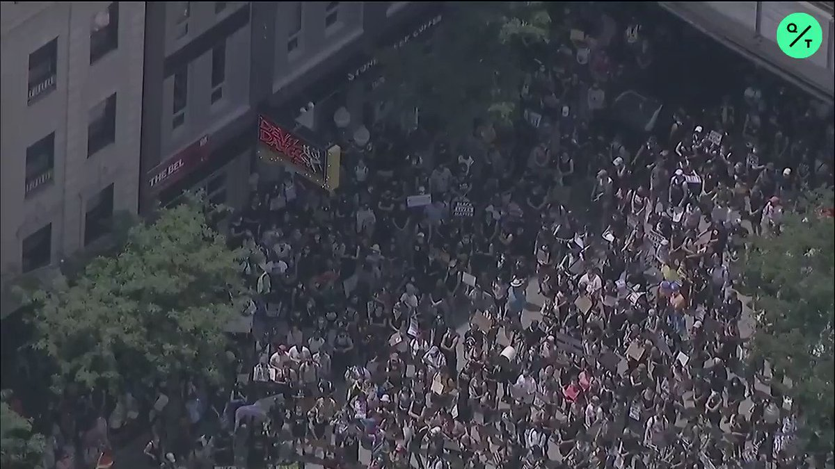 LIVE: Aerial footage shows massive crowds rallying to celebrate #Pride in Chicago https://t.co/06GbKtqP8l
