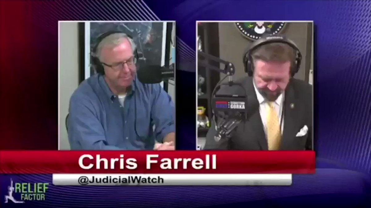 Image for the Tweet beginning: Chris Farrell on @SebGorka on