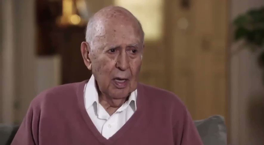 Please enjoy some highlights from our one-of-a-kind, 35-minute all-encompassing conversation back in November of 2014 with legend @carlreiner, who passed away overnight at age 98: