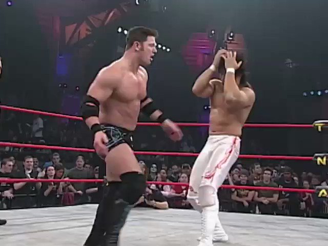 Today in #IMPACTHistory: @AJStylesOrg faced @tanahashi1_100 in an inter-promotional dream match. (Final Resolution, 2006)