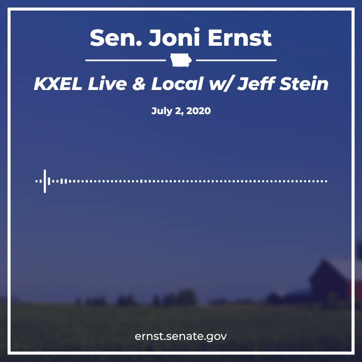 Whether at a VA facility in Iowa or anywhere across the country, my fellow veterans deserve the best quality care possible—it's the least we can do. I joined Jeff Stein on @KXEL1540 to discuss my bill that passed the Senate this week to ensure quality care for our veterans. https://t.co/K9X2PLr7Gp