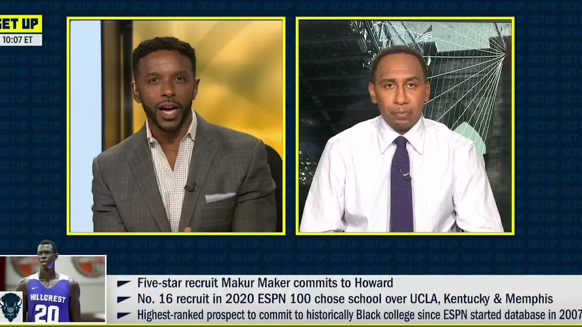 .@stephenasmith speaks on the importance of HBCUs and what they've done for his life.